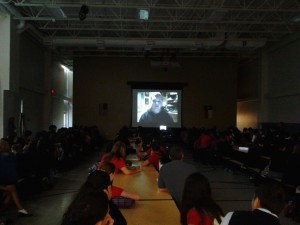 Classroom Skype session with young emancipation activist